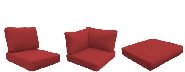 Barbados 25 Piece Outdoor Cushion Set Fabric: Terracotta