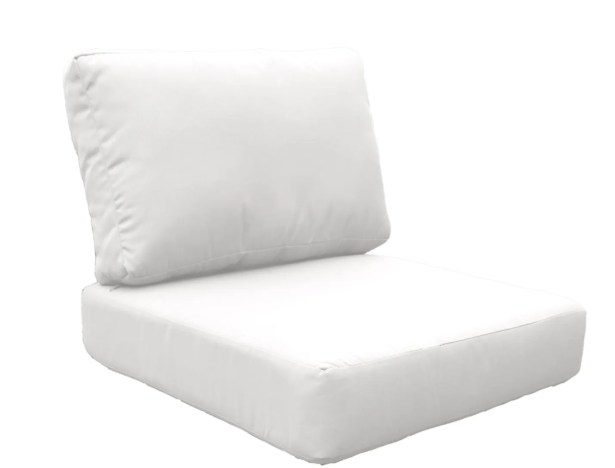 Miami 10 Piece Outdoor Lounge Chair Cushion Set Fabric: White