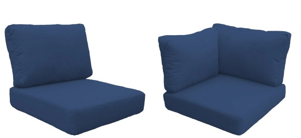Miami 15 Piece Outdoor Cushion Set Fabric: Navy