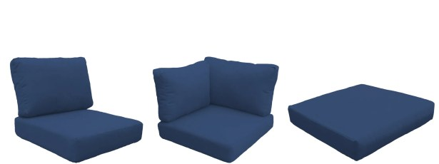 Florence 25 Piece Outdoor Cushion Set Fabric: Navy