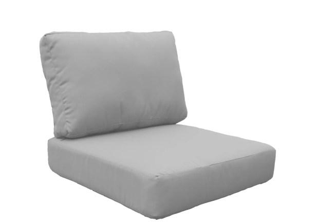 Miami Outdoor Lounge Chair Cushion Fabric: Gray