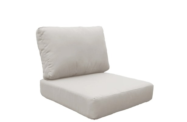 Miami 10 Piece Outdoor Lounge Chair Cushion Set Fabric: Beige
