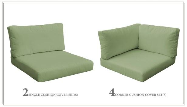 Monaco 16 Piece Outdoor Cushion Set Fabric: Cilantro