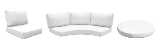 Fairmont 21 Piece Outdoor�Cushion Set Fabric: White