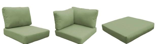 Capecod 10 Piece Outdoor Lounge Chair Cushion Set Fabric: Cilantro
