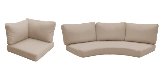 East Village Outdoor 10 Piece Lounge Chair Cushion Set Fabric: Wheat