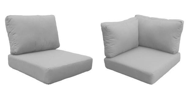 East Village Outdoor 10 Piece Lounge Chair Cushion Set Fabric: Gray