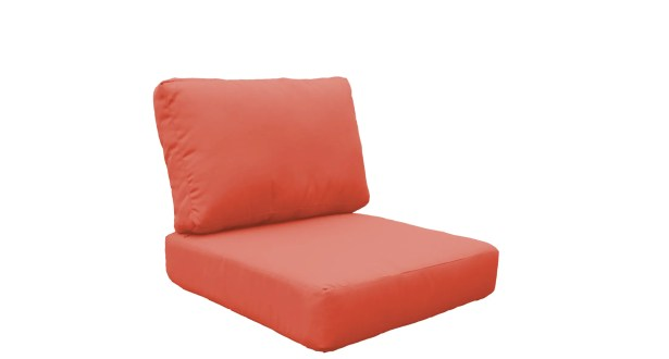 Manhattan Outdoor 4 Piece Lounge Chair Cushion Set Fabric: Tangerine