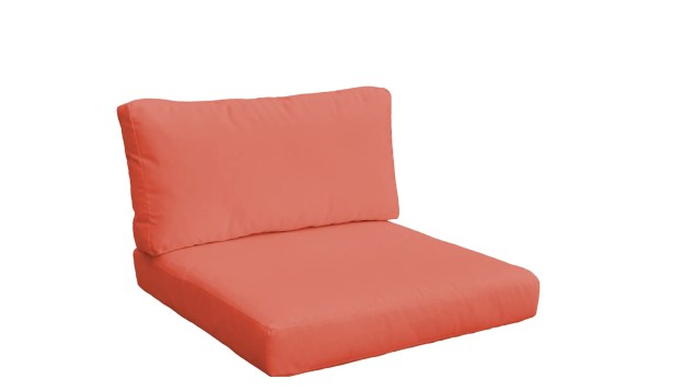 Monaco Outdoor 4 Piece Lounge Chair Cushion Set Fabric: Tangerine