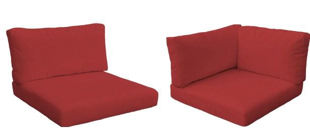Monterey Outdoor 14 Piece Lounge Chair Cushion Set Fabric: Terracotta