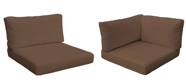 Monterey Outdoor 14 Piece Lounge Chair Cushion Set Fabric: Cocoa