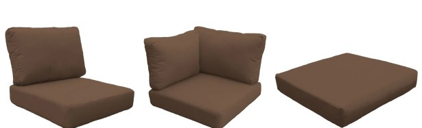 East Village 12 Piece Outdoor Cushion Set Fabric: Cocoa