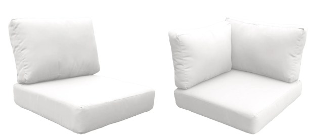 East Village 15 Piece Outdoor Cushion Set Fabric: White