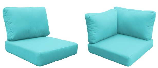 Capecod 17 Piece Outdoor Cushion Set Fabric: Aruba