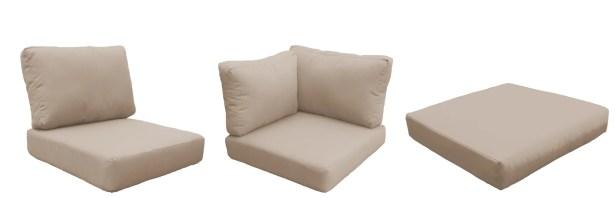 Fairmont Outdoor 23 Piece Lounge Chair Cushion Set Fabric: Wheat