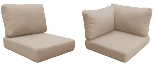 East Village Outdoor 10 Piece Outdoor Cushion Set Fabric: Wheat