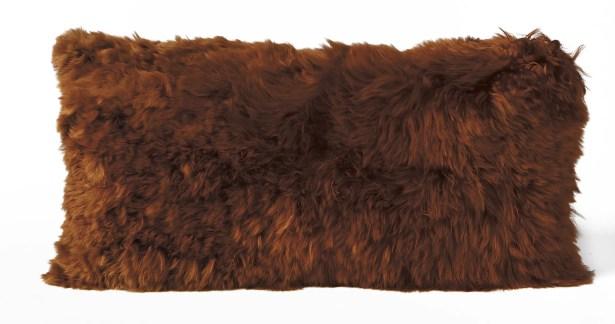 Alpaca Lumbar Pillow Color: Copper