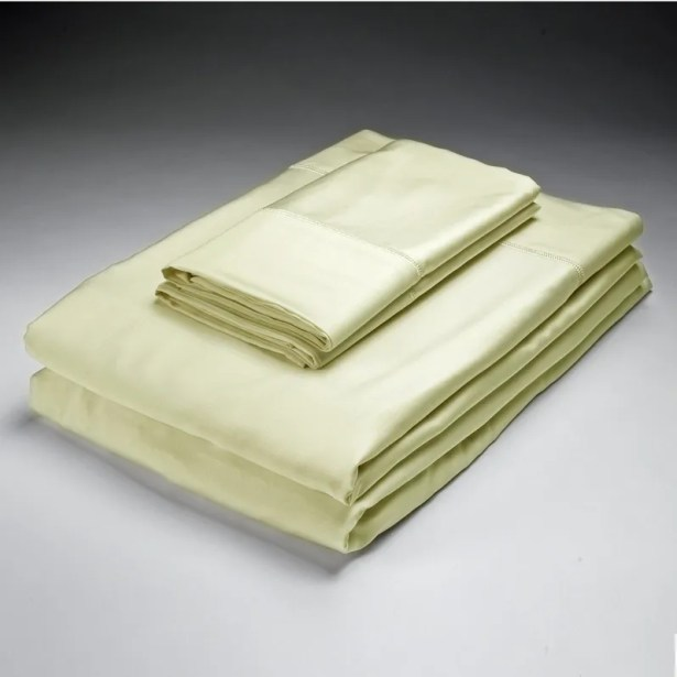 Rayon from Bamboo Pillowcase Size: Standard, Color: Ivory