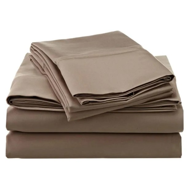Superior 1200 Thread Count 100% Cotton Sheet Set Color: Taupe, Size: Full