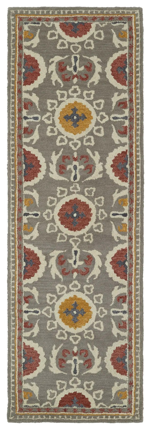Tunstall Hand-Tufted Gray Area Rug Rug Size: Runner 2'6