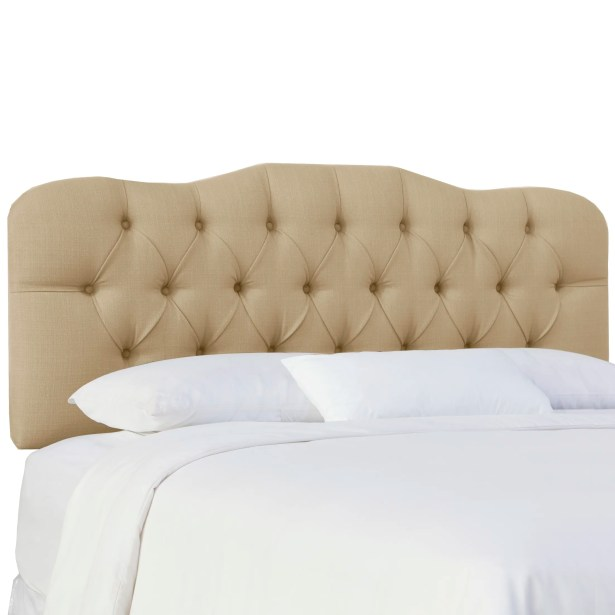 Cockerham Tufted Upholstery Panel Headboard Size: King, Upholstery: Klein Ricepaper