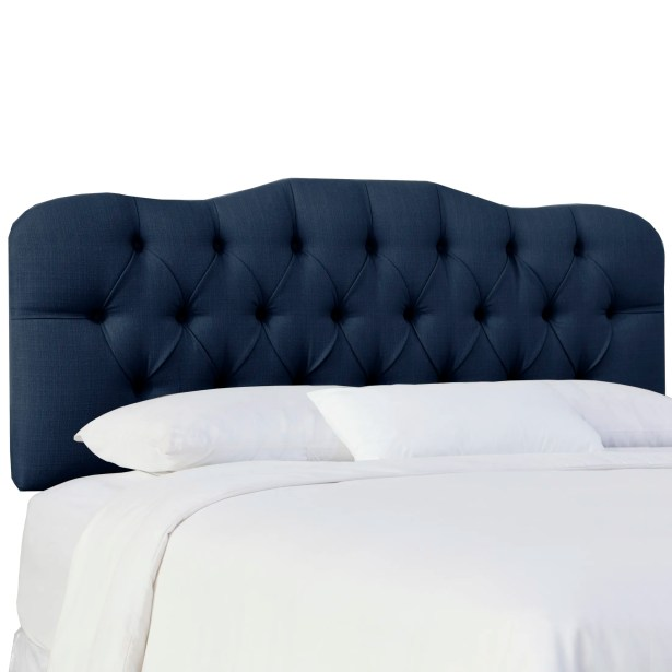 Cockerham Tufted Upholstery Panel Headboard Size: Twin, Upholstery: Klein Midnight