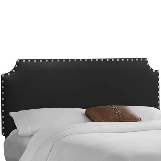 Adelia Upholstered Panel Headboard Size: Queen, Upholstery: Linen Black