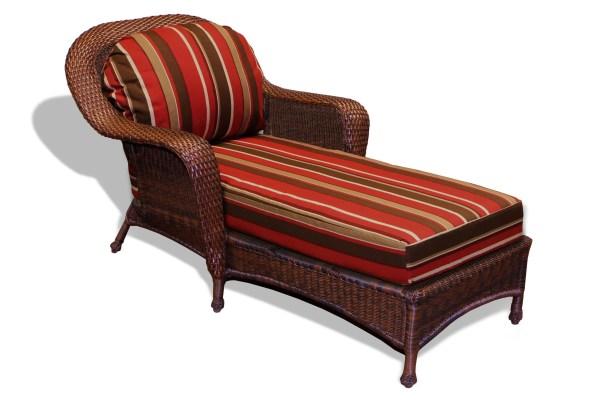 Fleischmann Chaise Lounge with Cushion Finish: Mojave, Fabric: Monserrat Sangria