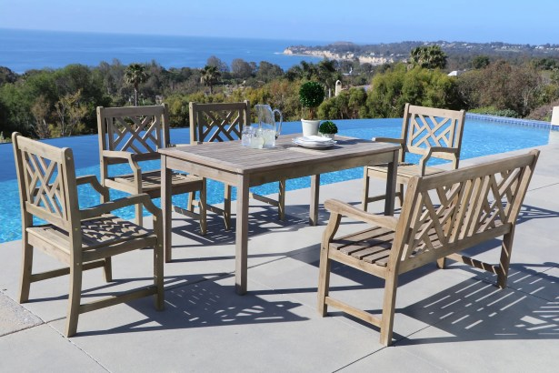 Densmore 6 Piece Dining Set Table Size: 59