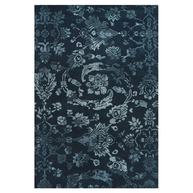 Southampton Tufted Wool Navy Area Rug Rug Size: Rectangle 5' x 8'