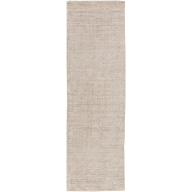 Racine Hand-Loomed Light Gray Area Rug Rug Size: Runner 2'6