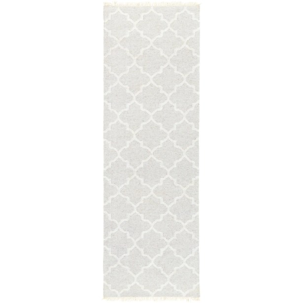 Palladio Hand-Woven Light Gray/Cream Area Rug Rug Size: Runner 2'6