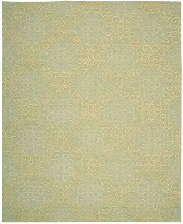 Cedarwood Hand-Woven Light Green Area Rug Rug Size: Rectangle 7'9