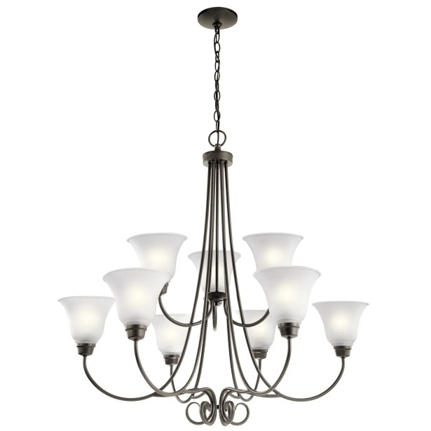 Bourneville 9-Light Shaded Chandelier Finish: Old Bronze