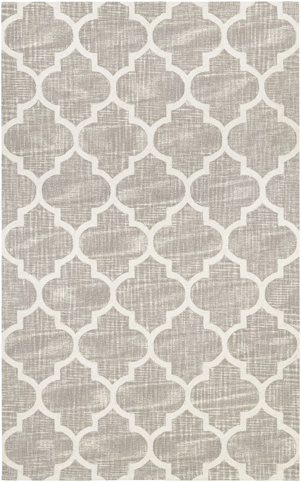 Lissette Hand-Woven Gray/Ivory Area Rug Rug Size: Rectangle 9'5