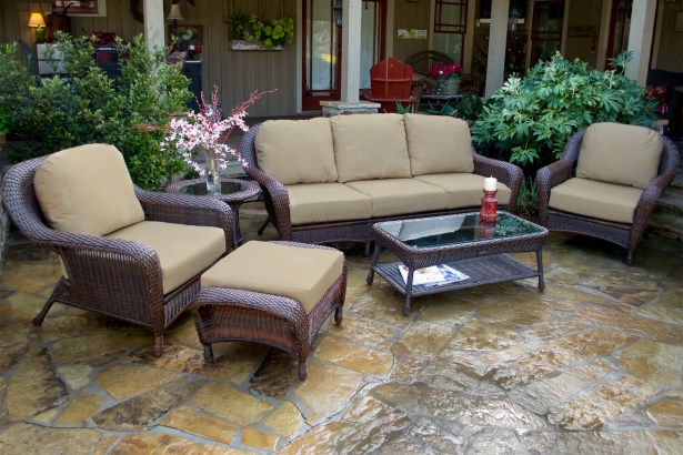 Fleischmann 6 Piece Sofa Set with Cushions Color: Mojave, Fabric: Sunbrella Canvas Wheat