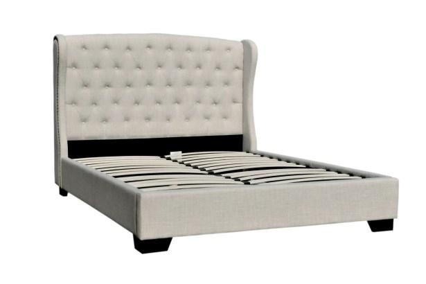 Meibel Upholstered Platform Bed Size: Queen, Color: Beige