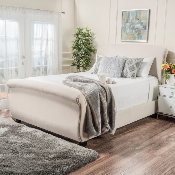 Greenock Fabric Upholstered Sleigh Bed Size: Queen