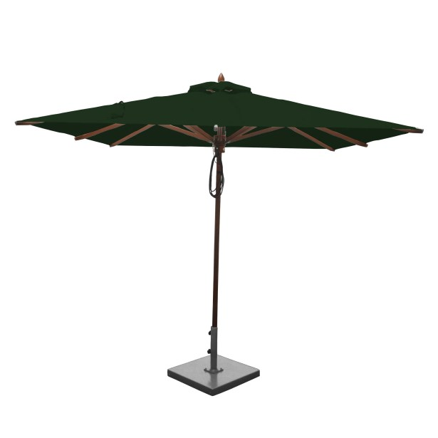 8' Square Market Umbrella Fabric: Forest Green