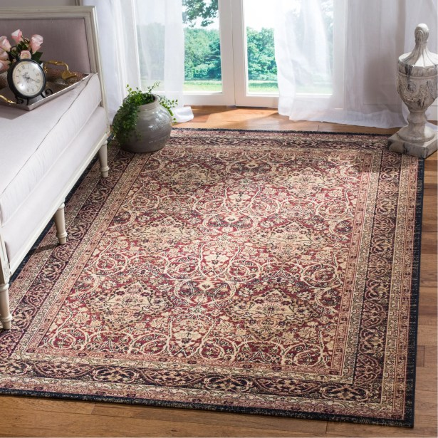 Marion Beige/Burgandy Area Rug Rug Size: Rectangle 5'1