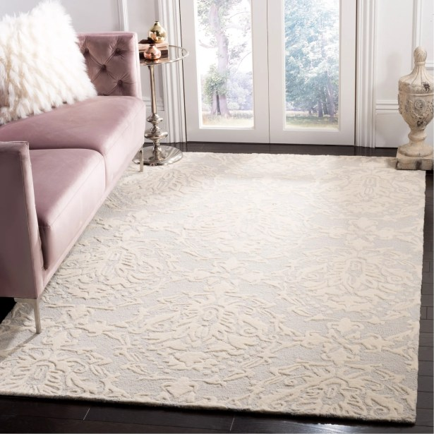 Bevis Rustic Hand Tufted Wool Light Gray Area Rug Rug Size: Rectangle 8' x 10'