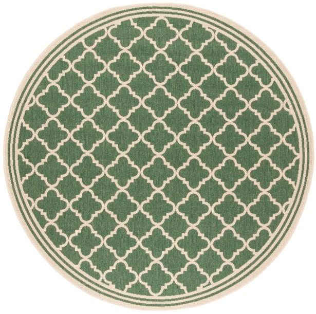 Berardi Green/Cream Area Rug Rug Size: Round 6'7