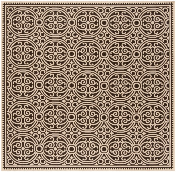 Burnell Brown Area Rug Rug Size: Square 6'7
