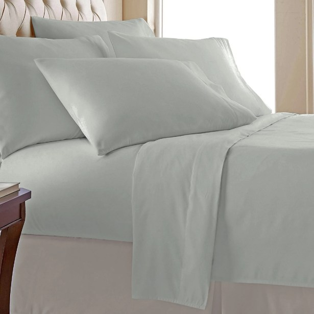 Miral 400 Thread Count 100% Cotton Sheet Set Size: California King, Color: Cream