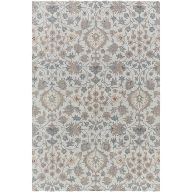 Pottershill Moss & Gray Area Rug Rug Size: Rectangle 8' x 10'