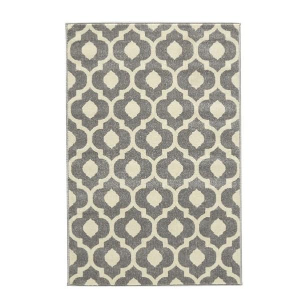 Oak Knoll Ivory/Light Grey Area Rug Rug Size: Rectangle 5'3