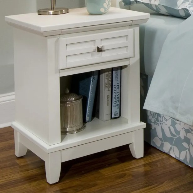 Ferryhill 1 Drawer Night Stand Color: Off-White