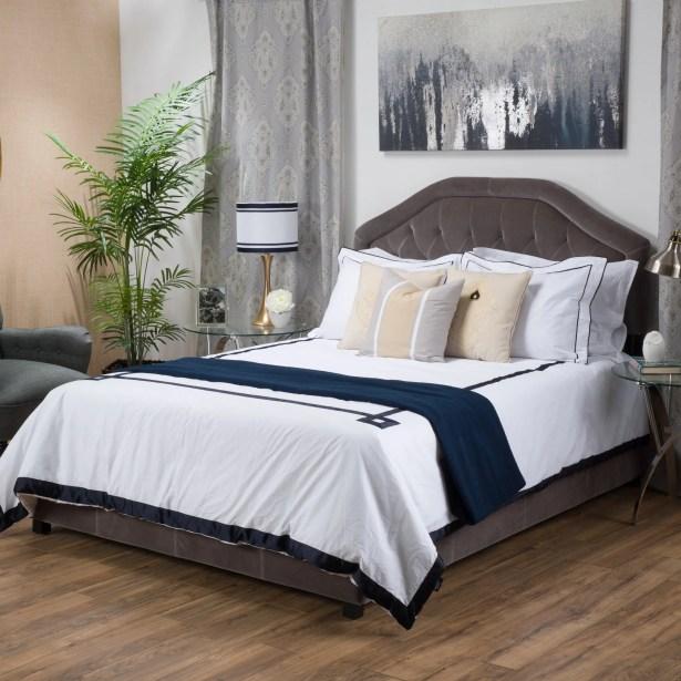 Haverford Upholstered Panel Bed Size: King