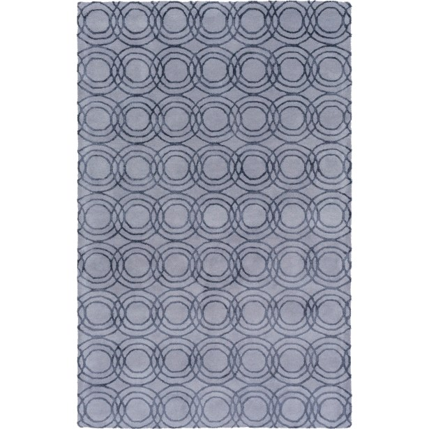 Meader Hand-Tufted Gray Area Rug Rug Size: Rectangle 4' x 6'