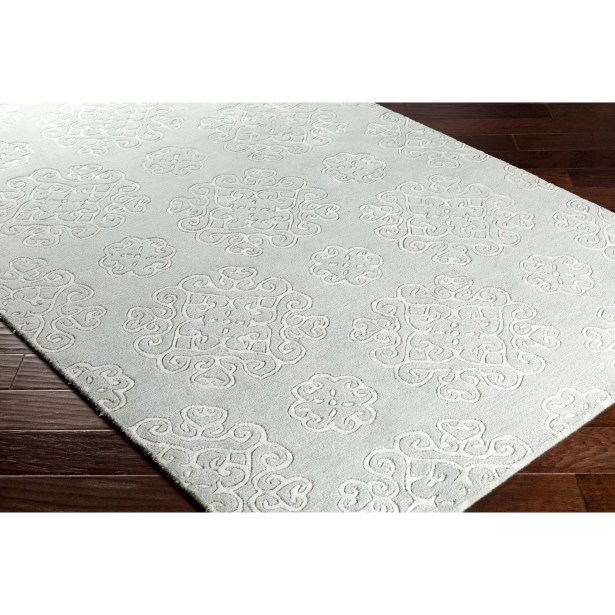 Silvera Hand-Tufted Green/Gray Area Rug Rug Size: Rectangle 2' x 3'